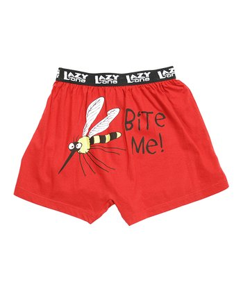 Red 'Bite Me' Boxers - Boys