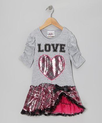Heather Gray 'Love' Plaid Dress