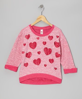 Hot Pink Heart Top