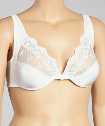 White Rose Lace Bra - Women & Plus