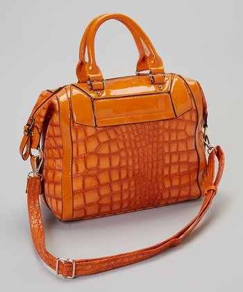 Orange Crocodile Tote