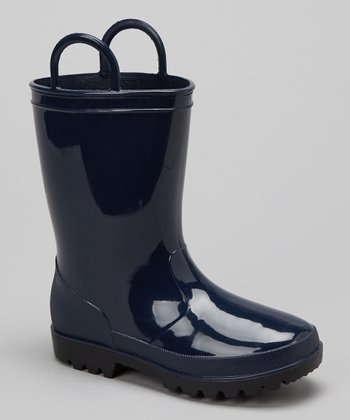 Navy Rain Boot - Kids