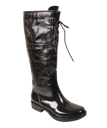 Black Harley Rain Boot