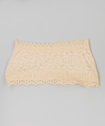 Beige Lace Midriff Cover - Women