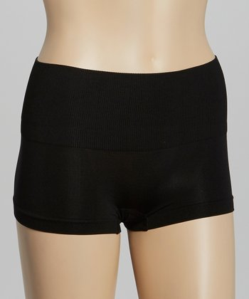 Black Seamless Shaper Boyshorts - Women