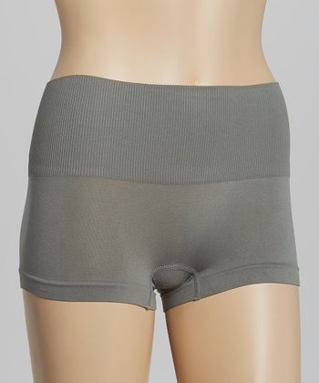 Gray Seamless Shaper Boyshorts - Women