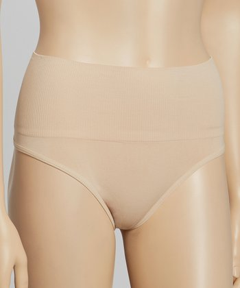 Nude Seamless High-Waist Shaper Thong