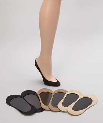 Black, Tan & Nude Microfiber Socklet Set