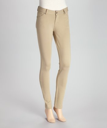 Khaki Jeggings