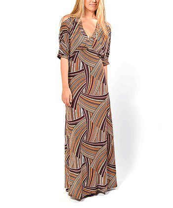 Brown Lovely Maxi Dress