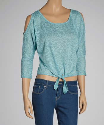 Burnout Tie-Waist Top
