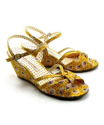 Yellow Donna Wedge Sandal