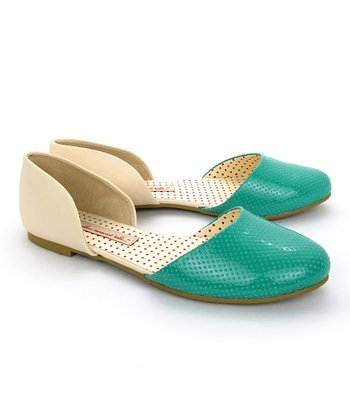 Teal & Cream Shirley Flat