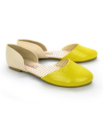 Yellow & Cream Shirley Flat