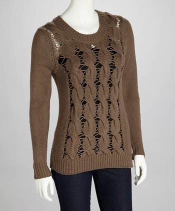 Nutmeg Distressed Jia Sweater