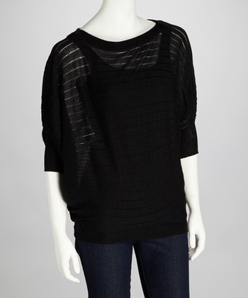 Black Stripe Shelby Dolman Sweater