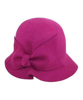 Fuchsia Cloche Hat