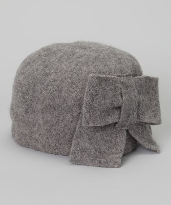 Gray Wool Cloche Hat