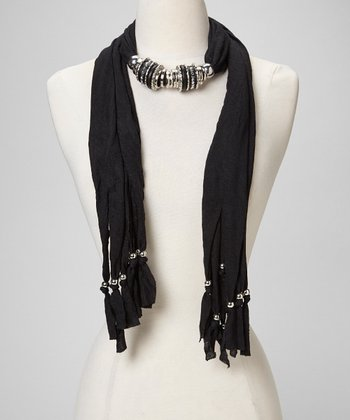 Black & Silver Jewelry Scarf