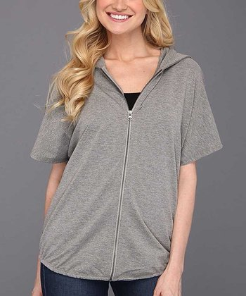 Heather Gray Fly Fleece Zip-Up Hoodie - Women