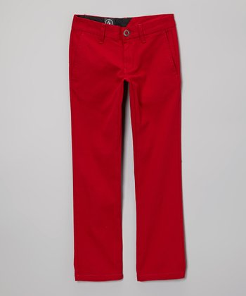 Deep Red Chino Pants - Toddler & Boys