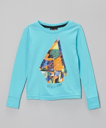 Aqua & Orange 'Volcom' Stone Tee - Toddler & Boys