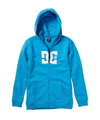 Bright Blue Star Zip-Up Hoodie - Boys