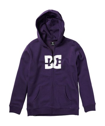 Purple Star Zip-Up Hoodie - Boys