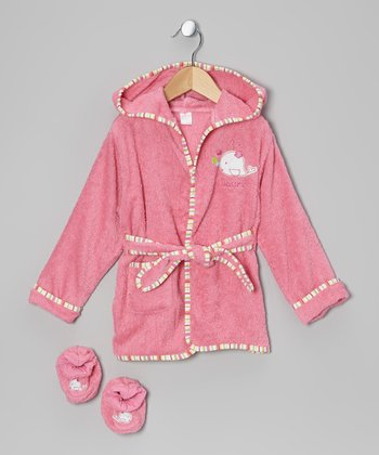 Pink Whale Robe & Booties - Infant