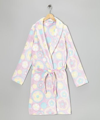 Light Pink Blossom Robe - Girls