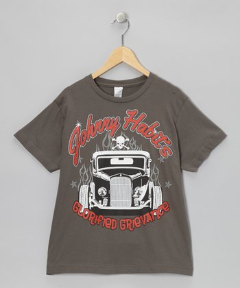 Charcoal 'Johnny Habits' Tee  - Toddler & Boys