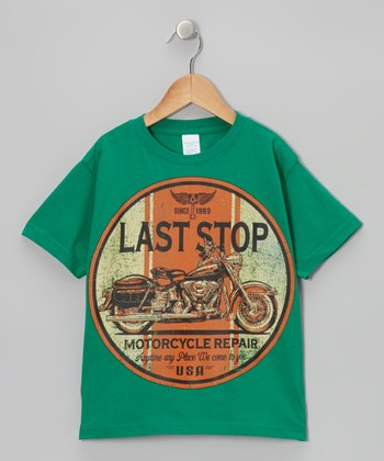 Kelly Green 'Last Stop' Tee - Boys
