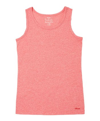 Bright Rose Solid Tank - Girls