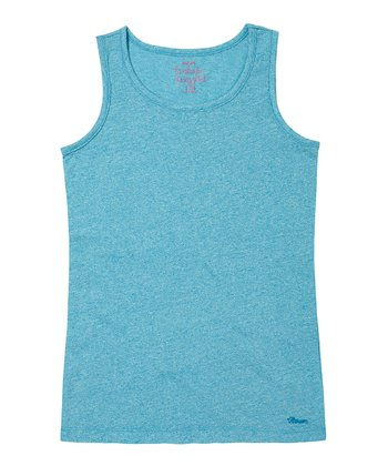 Deep Turquoise Solid Tank - Girls