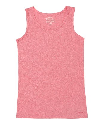 Electric Pink Solid Tank - Girls