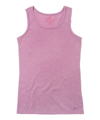 Parma Violet Solid Tank - Girls