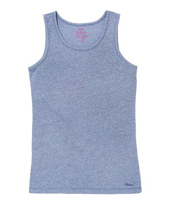 Rebel Purple Solid Tank - Girls