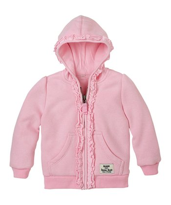 Pink Lady Ruffle Zip-Up Hoodie - Infant