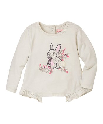 Rich Cream Bunny Ruffle Tee - Infant