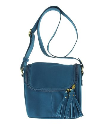 Dark Teal Tassel Crossbody Purse