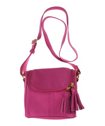 Deep Mauve Tassel Crossbody Purse