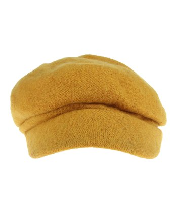 Ochre Wool Cabbie Hat