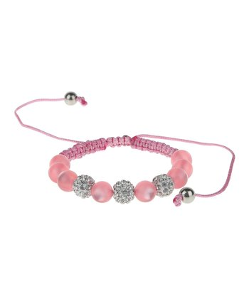English Rose Rhinestone Ball Bracelet