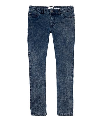 Odyssey Acid Wash Skinny Jeans - Girls