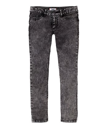 After Snow Acid Wash Skinny Jeans - Girls
