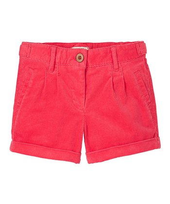 Bright Rose Corduroy Shorts - Girls