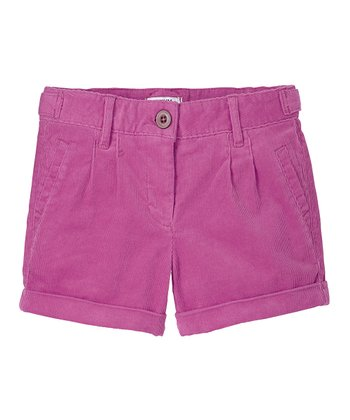 Parma Violet Corduroy Shorts - Girls