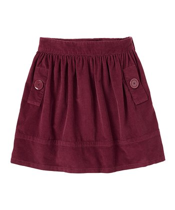 Mulled Wine Corduroy Skirt - Girls