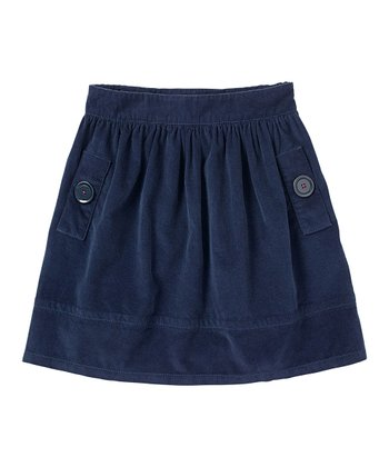 Navy Corduroy Skirt - Girls