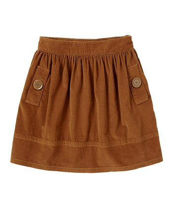 Salted Caramel Corduroy Skirt - Girls